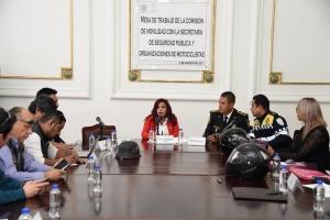 Relevante celebrar reuniones que contribuyan a la seguridad y respeto de motociclistas: Francis Pirín