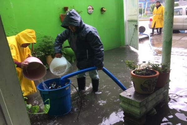 Protección Civil de ALDF pide extremar precauciones por huracán John y tormenta tropical Ileana que provocan fuertes lluvias en CDMX