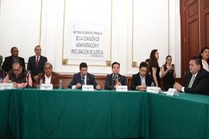 Aprueban en comisión ratificación y designación de 18 magistrados al TSJDF