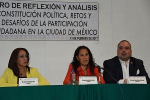 Comisión analiza mecanismos de participación ciudadana en Constitución CDMX