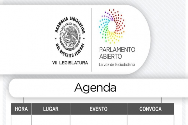 Agenda viernes 15 de junio de 2018