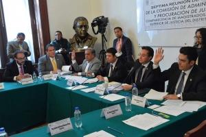 Comparecen magistrados del TSJDF ante Comisión de Administración y Procuración de Justicia
