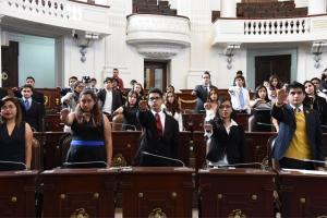 Realiza ALDF simulacro legislativo con estudiantes de nivel medio superior