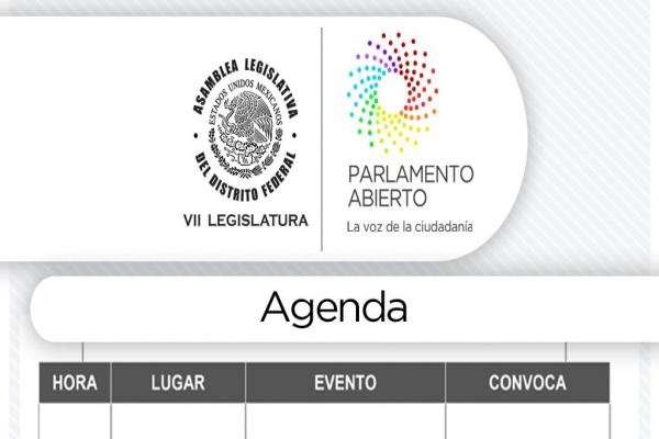 Agenda lunes 29 de mayo de 2017