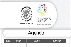 Agenda jueves 22 de febrero de 2018
