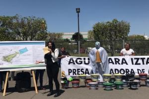 Pide Janet Hernández beneficios a capitalinos en terrenos del AICM