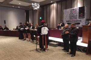 """Reciben asambleístas Janet Hernández y Alfonso Suárez del Real reconocimiento """"doctor honoris causa"""" por parte del Consejo Doctoral Mexicano"""